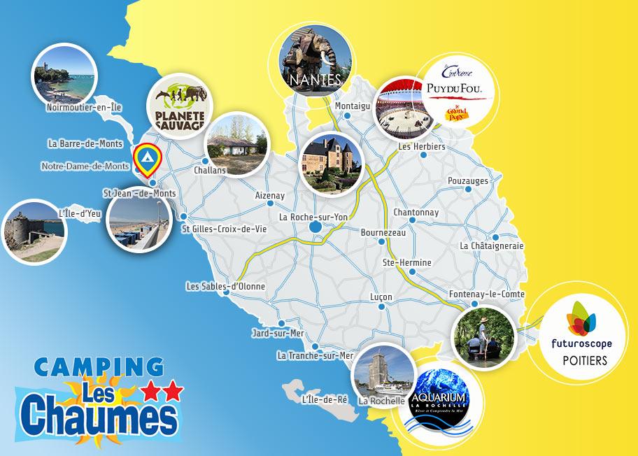 camping proche activités touristiques Vendée